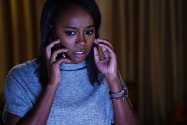 "Aja Naomi King in the How to Get Away with Murder episode ""Is Someone Really Dead?"" Photo Credit: ABC/Richard Cartwright Aja Naomi King in the How to Get Away with Murder episode ""Is Someone Really Dead?"" Photo Credit: ABC/Richard Cartwright"