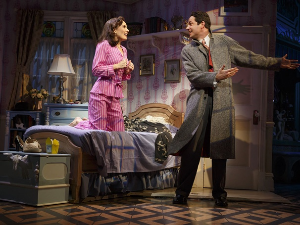 Laura Benanti and Zachary Levi in She Loves Me. Photo Credit: Joan Marcus