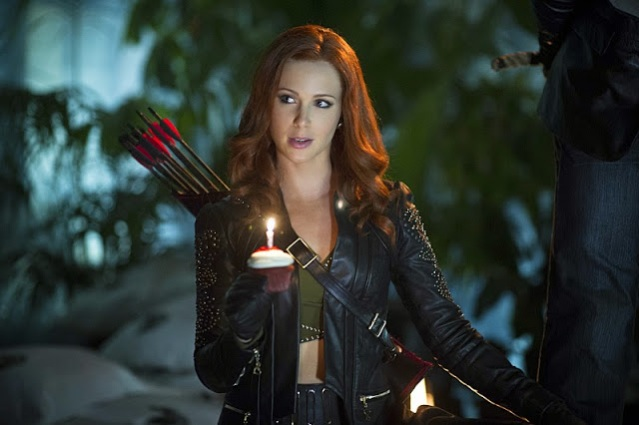 "Amy Gumenick in the Arrow episode ""Draw Back Your Bow."" Photo Credit: Diyah Pera/The CW."