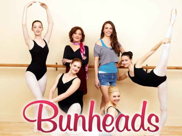 Emma Dumont, Kaitlyn Jenkins, Kelly Bishop, Sutton Foster, Bailey Buntain, Julia Goldani Telles in the ABC Family drama Bunheads. Photo Credit: ABC Family/Andrew Eccles