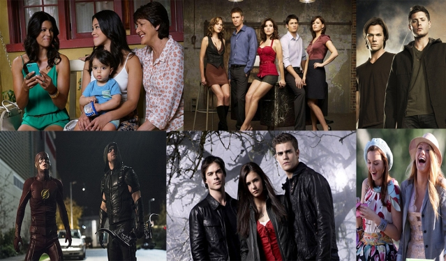 Jane the Virgin, Arrow, One Tree Hill, The Vampire Diaries, Supernatural, and Gossip Girl. Photo Credit: The CW