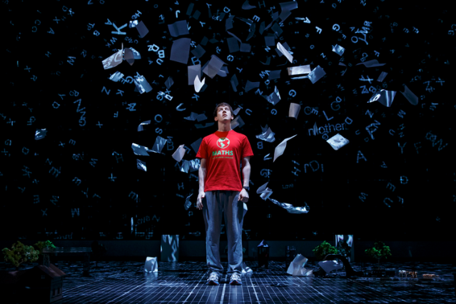 Alex Sharp in The Curious Incident of the Dog in the Night-Time. Photo Credit: curiousonbroadway.com
