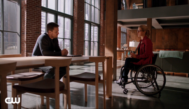 "Stephen Amell and Emily Bett Rickards in the Arrow episode ""Taken."" Photo Credit: The CW"