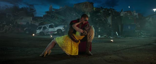 Josh Dallas and Emily Bett Rickards in the short film Sidekick. Photo Credit: Sidekick