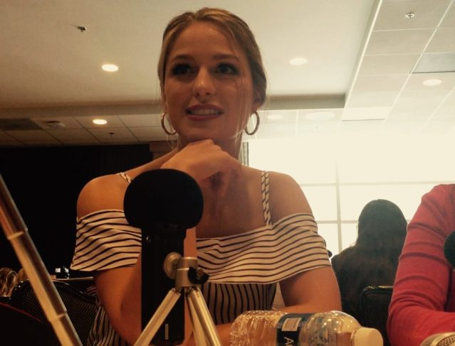 Melissa Benoist chats about Supergirl at SDCC 2016. Photo Credit: Nora Dominick
