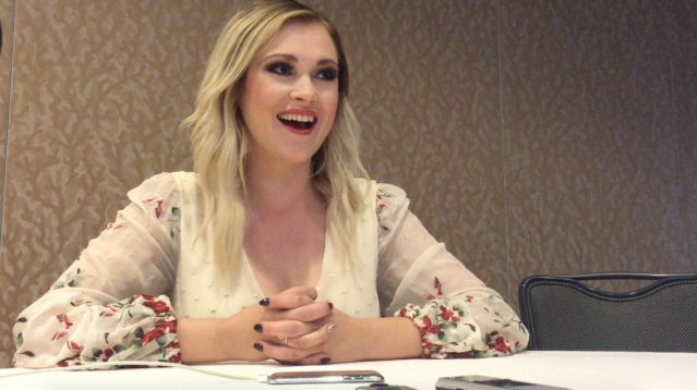 Eliza Taylor chats about The 100 at SDCC 2016. Photo Credit: Nora Dominick