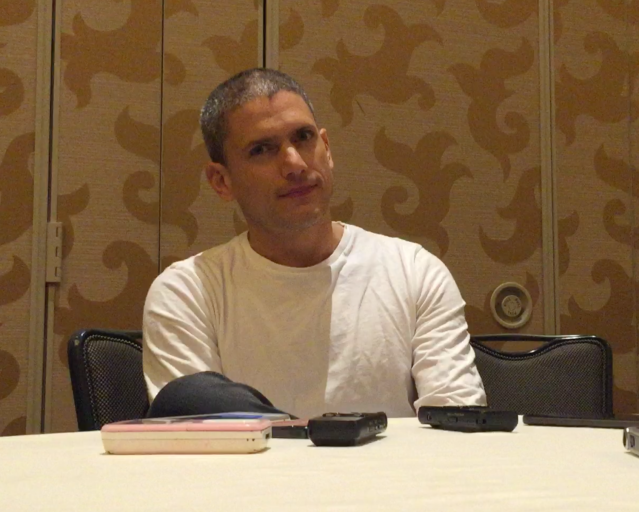 Wentworth Miller chats about Prison Break at SDCC 2016. Photo Credit: Nora Dominick